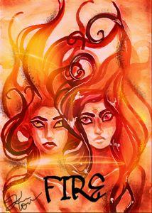 Elemental Fire art print