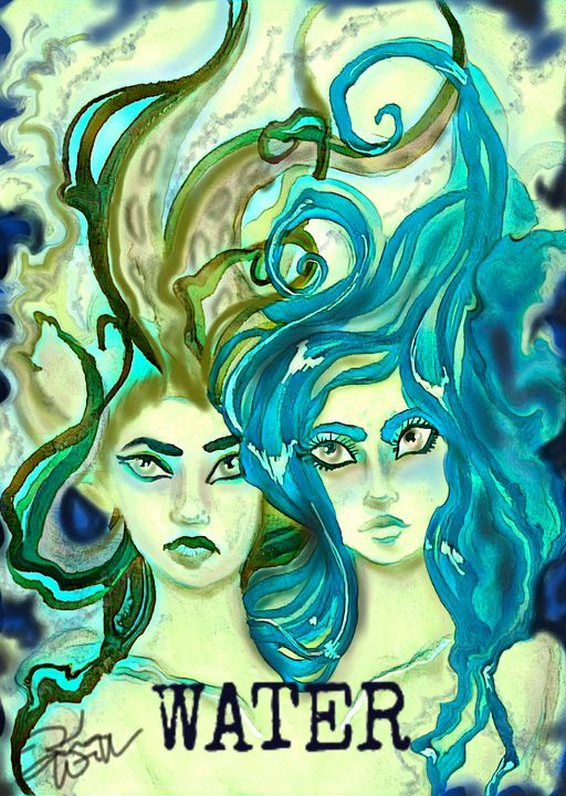 Elemental Water art print - Kimber Kiwi Art