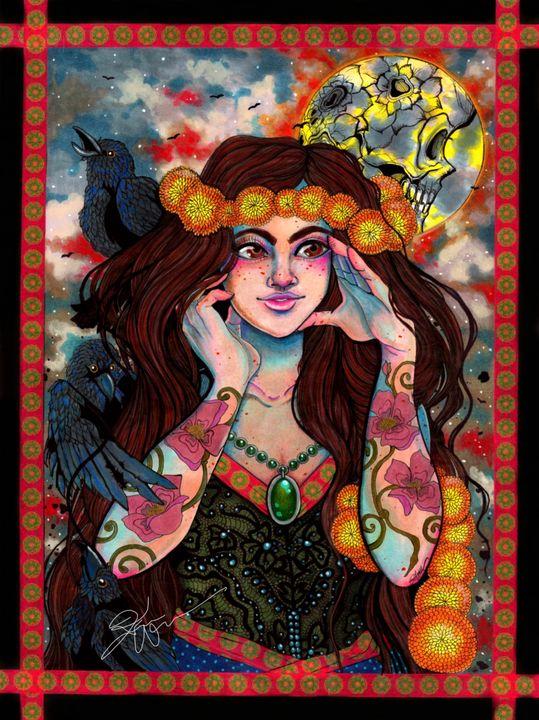 Raven Moon - Kimber Kiwi Art
