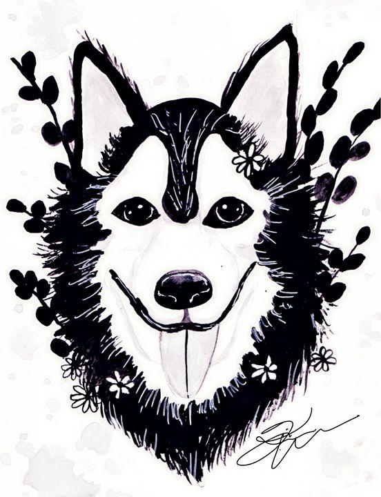 Husky. - Kimber Kiwi Art