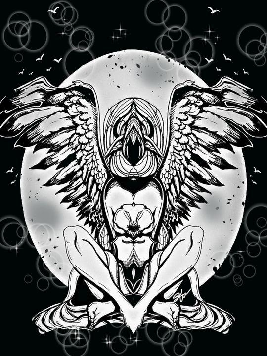 Mirror Angel. - Kimber Kiwi Art