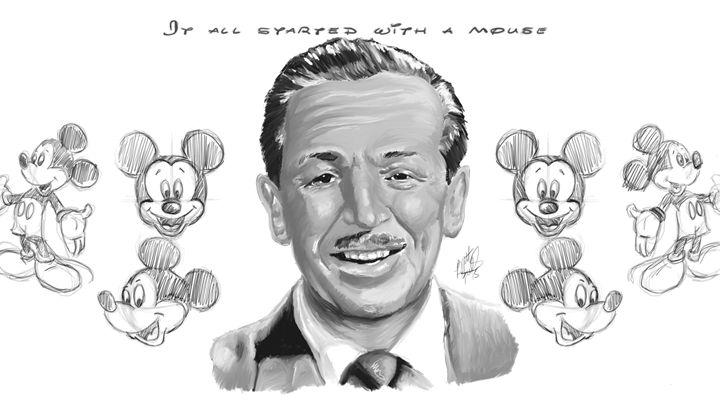 Walt Disney Black and White - Brett's Art