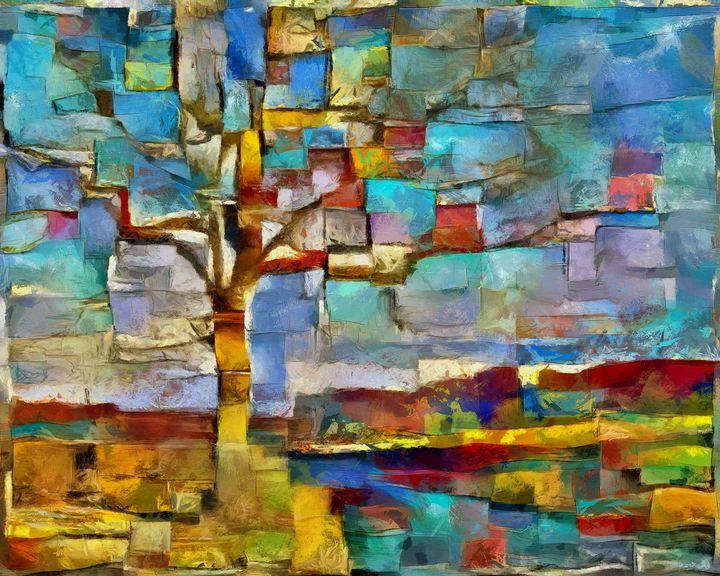 Tree on the road to mountains - Potocek