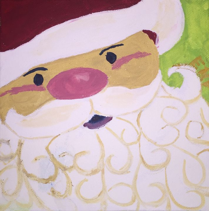 Curly beard Santa - Erin pegram