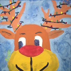 Tangled reindeer