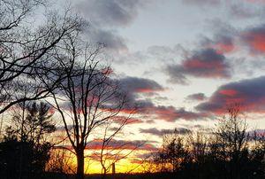 Sun setting, Early Spring
