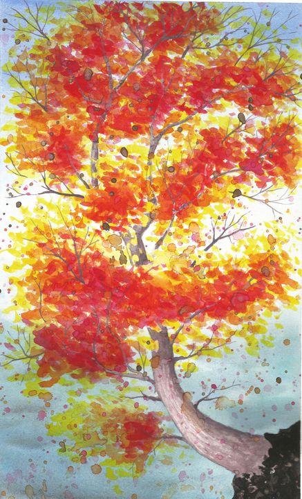 The tree of Fire - Queen Bee Scrive