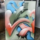 36x42 Graffiti canvas