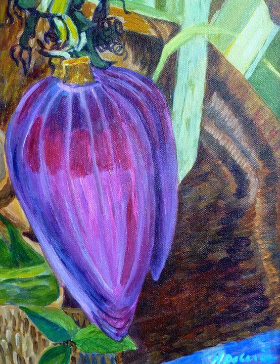 Banana Blossom, Maui - Hally DeCarion's Paintings