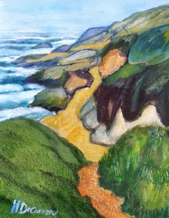Trail to the Sea - Hally DeCarion's Paintings