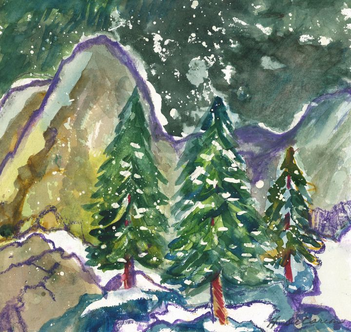 Snowfall in the Rockies - Hally DeCarion's Paintings