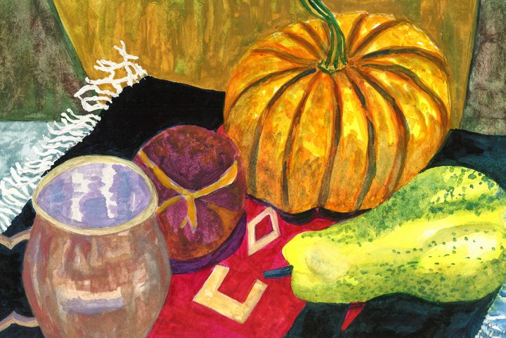"""""""Autumn Still Life with Pumpkin"""" - Hally DeCarion's Paintings"""