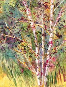 """Aspens in the Fall"""