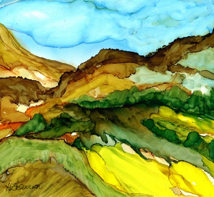 """""""Fantasy Mountainscape"""" - Hally DeCarion's Paintings"""