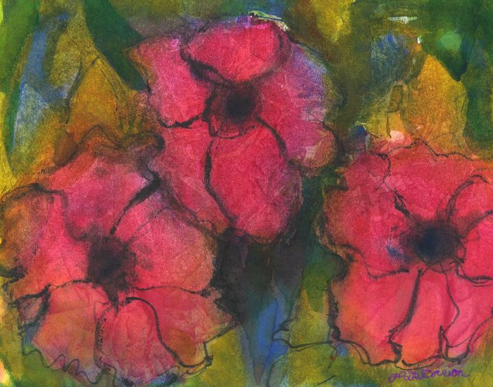 """Red Roses"" - Hally DeCarion's Paintings"