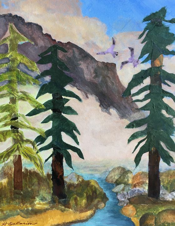 """""""Early Morning Fog, Yosemite Valley"""" - Hally DeCarion's Paintings"""