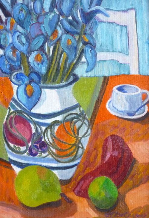 Still Life with Iris - Hally DeCarion's Paintings