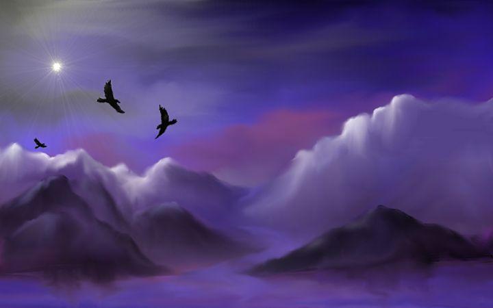 Ravens Of The Light - Fine Art by Joanna