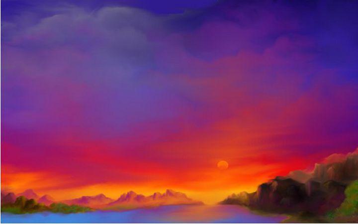 Fire Sky - Fine Art by Joanna