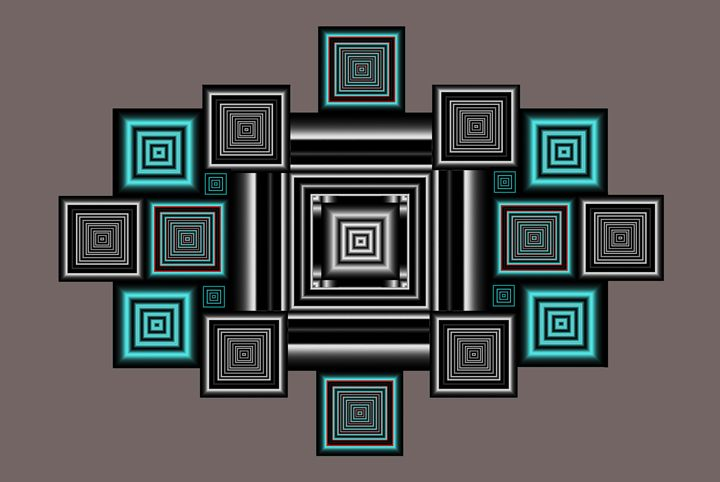 Multiple Squares - Fine Art by Joanna
