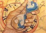 Hand of Time, 18x24 Watercolor Paper