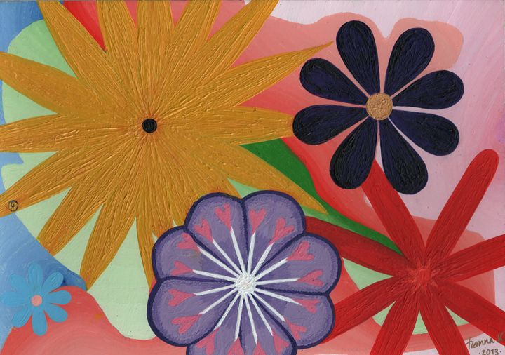Flowers Everywhere - HannaKhash Art