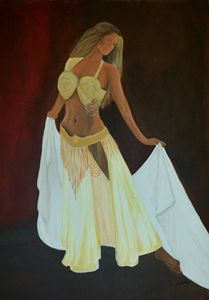 Acrylic Painting - Belly Dancer