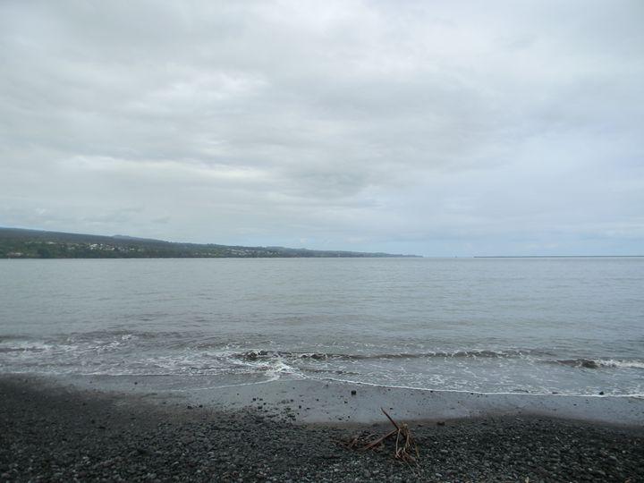 Beach with black sand - paradise