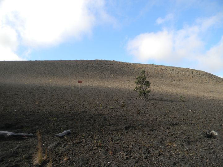 Barren Land caused by active Volcano - paradise