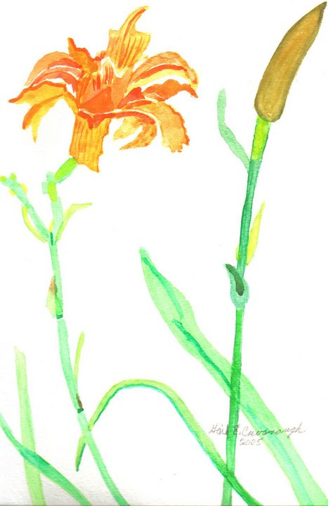 Two Together Day Lilies - Gail Cavanaugh Art