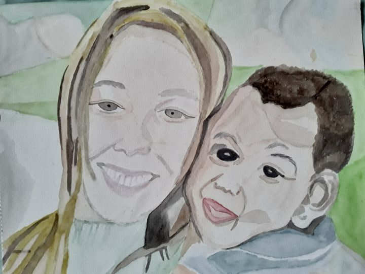 Young Mother and Child - Gail Cavanaugh Art