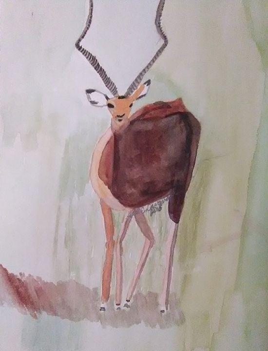 The Elk - Gail Cavanaugh Art