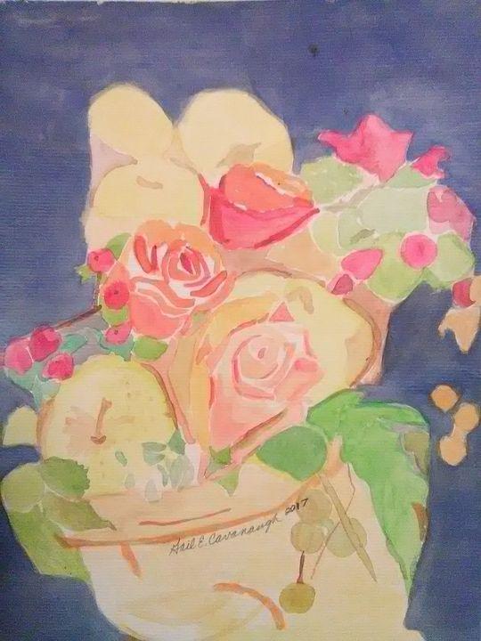 Roses in Vase - Gail Cavanaugh Art