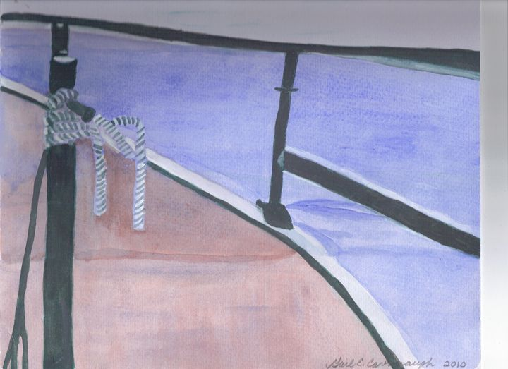 Boat Side - Gail Cavanaugh Art