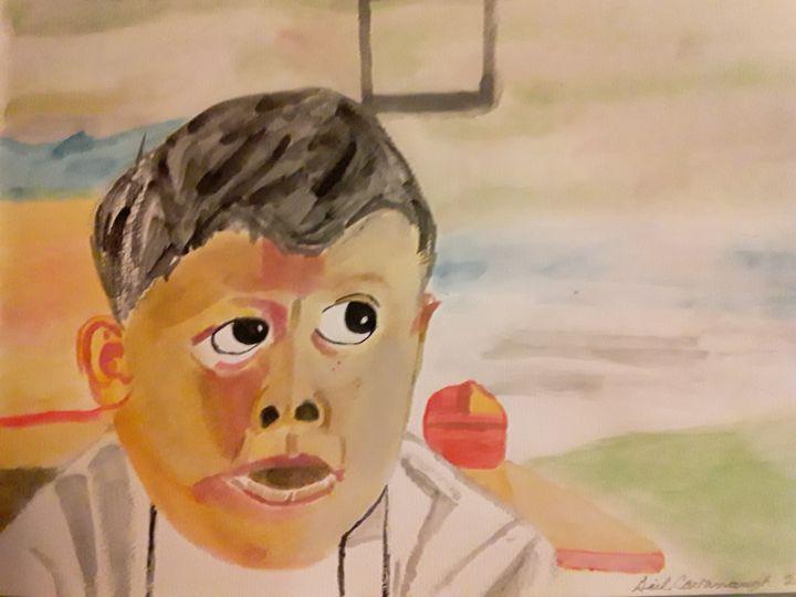 Attentive Boy - Gail Cavanaugh Art
