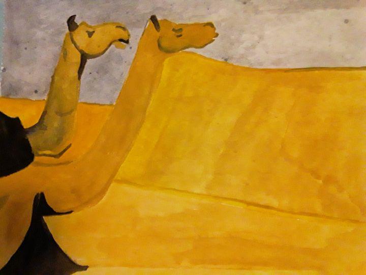 Two Camels - Gail Cavanaugh Art