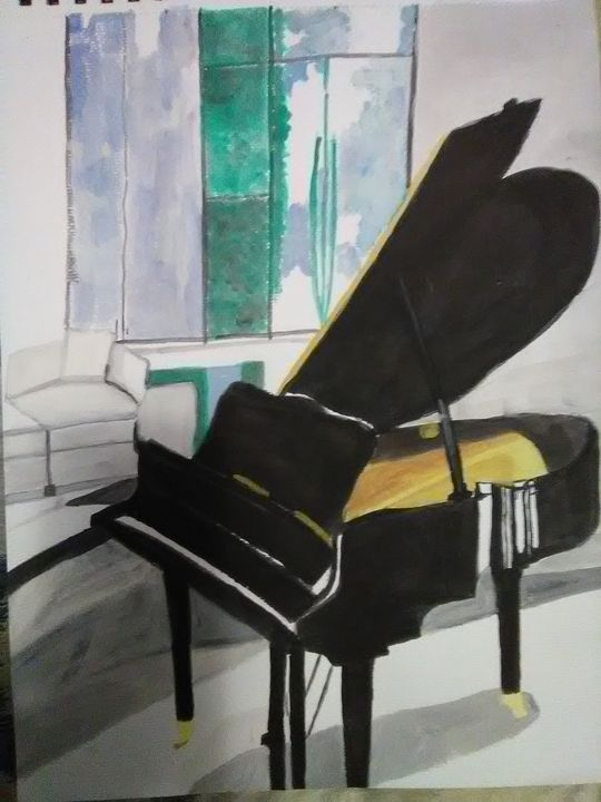 Grande Piano - Gail Cavanaugh Art