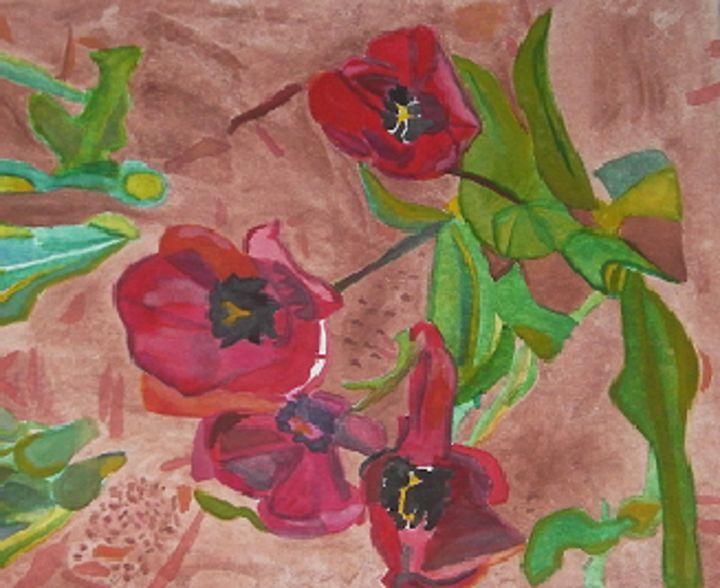 Tulips - in -Waiting - Gail Cavanaugh Art
