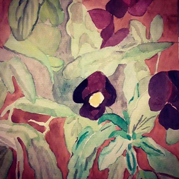 Violets - Gail Cavanaugh Art