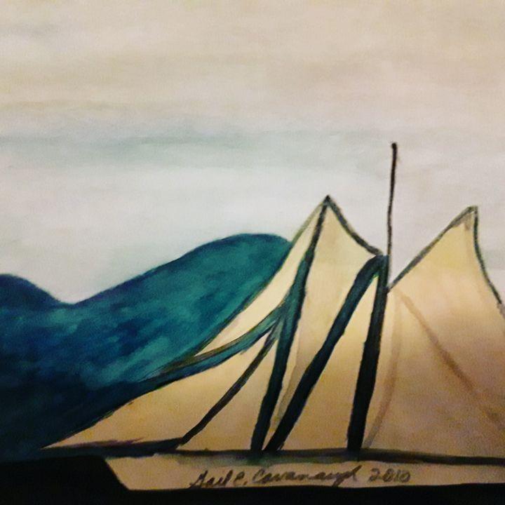 Sailboat - Gail Cavanaugh Art