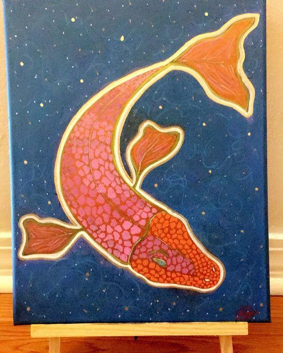 Metallic Koi Fish Painting - Followsuccess