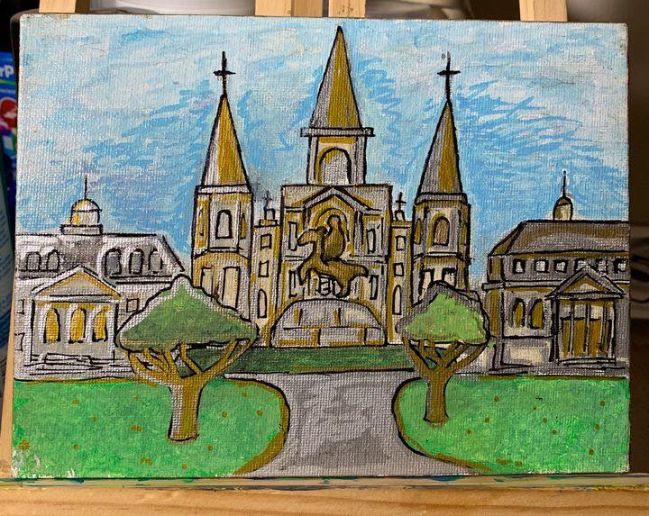 NOLA Jackson Square Painting - Followsuccess
