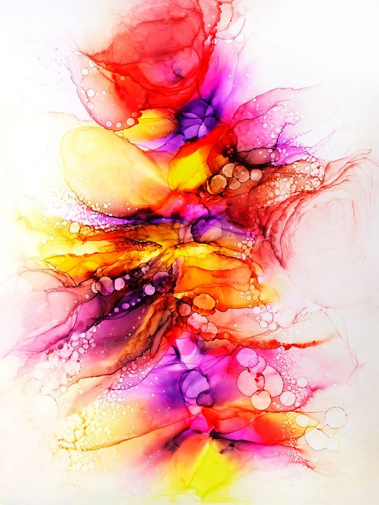 Alcohol Ink Abstract Modern Art - JVArtStudio