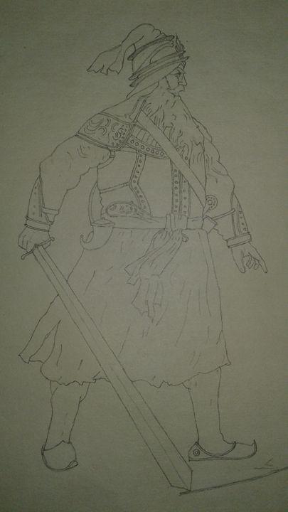 Sketch of baba deep singh ji - Yatharth Jaggi