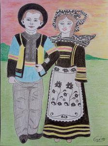 Enfants bretons de Quimper .