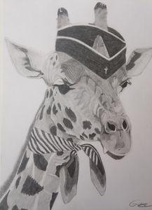 La girafe hôtesse de l'air.