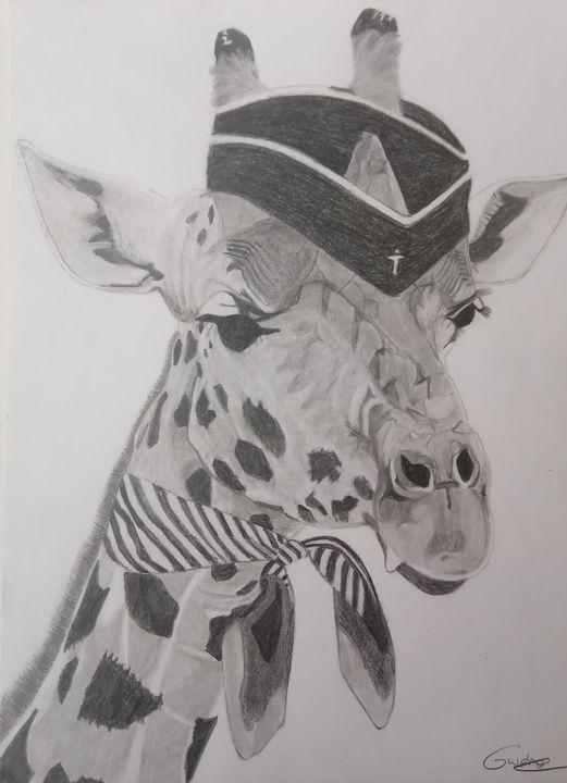 La girafe hôtesse de l'air. - Gweno