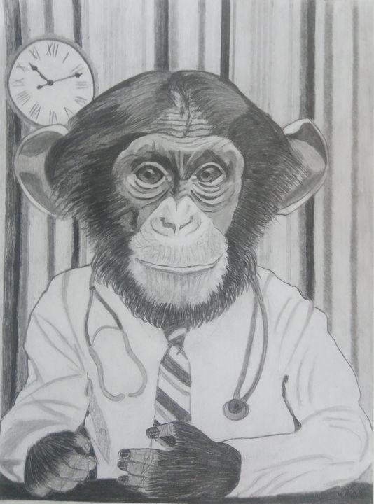 Le singe, docteur. - Gweno