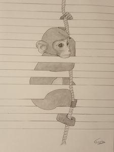 Chimpanzé à la manière Joao Carvalho