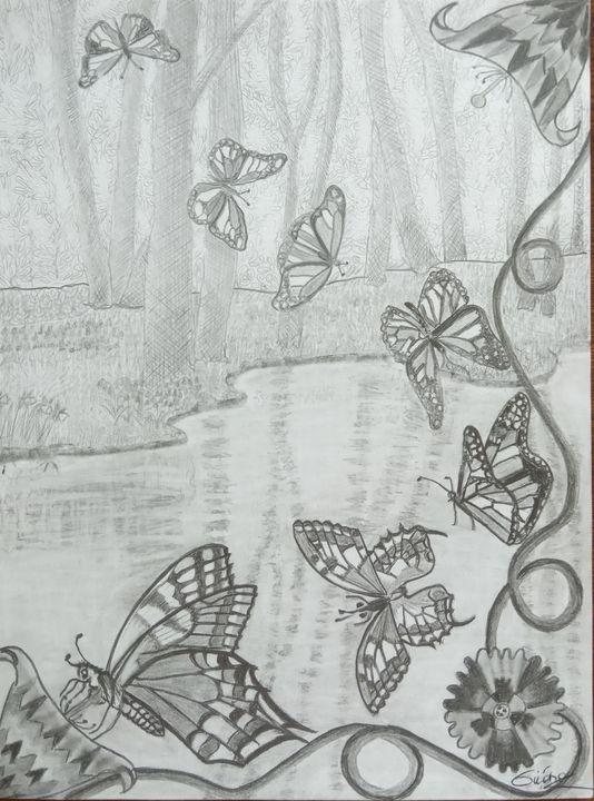 La danse des papillons monarques . - Gweno